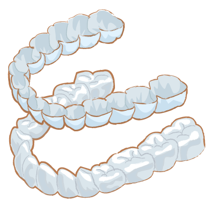 大阪の愛歯やまだ歯科では、顎関節治療に対してマウスピースを作成いたします